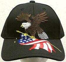 UNITED STATES OF AMERICA AMERICAN BALD EAGLE HOLDING USA FLAG PATRIOTIC CAP HAT