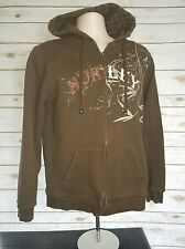 Hurley Hoodie Brown Zip Up Women's Medium  Cotton Blend