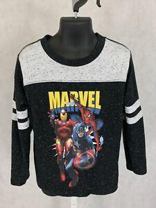 BOYS XS 4/5 Raglan T-SHIRT  MARVEL AVENGERS Captain America Spider-Man Ironman