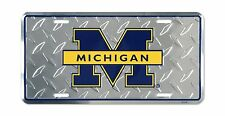 University of Michigan Diamond License Plate Tin Sign 6 x 12in Free Shipping