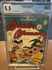 Wonder Woman #10 CGC 5.5 Fall 1944 Off-white To White Pages! Make Offer!