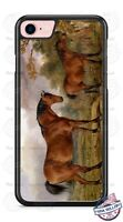 Two Horses Landscape Art Design Phone Case fits iPhone Samsung LG Google HTC etc