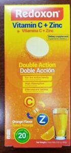 Redoxon Vitamin C 1000 Mg + Zinc, Orange Double-Action, 20 Tablets, Exp. 9/ 2023