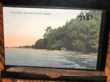 #7287,Seldom Seen Hand Colored,Cedar Beach Beaverton Ont Canada 1932