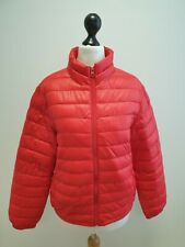 GIRLS UNITED COLORS OF BENETTON RED LIGHTWEIGHT PUFFER JACKET AGE 11-12 YEARS