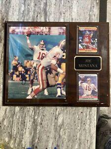 Joe Montana Auto Signed Plaque; San Francisco 49ers Autograph; HOF; READ
