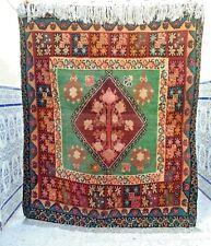 """Vintage Boujad rug Moroccan Rug wool Handmade Berber Carpet Tribal 5'9"""" x 4'6"""""""