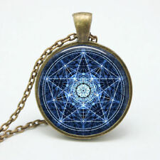 Water Pentagram Wicca Pendant Necklace Wiccan Jewelry Charm