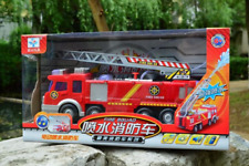 Water Spraying Toy Fire Truck - LED Light - Fireman Sam - Fireman Engine - 25cm