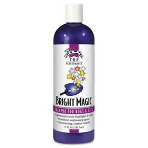 Pet Shampoo Dog & Cat Grooming Bright Magic Gentle Cherry Scented Choose Size
