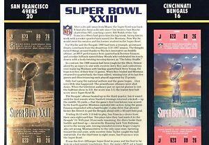 Super Bowl XXIII 49ers Bengals 22kt Gold Ticket Willabee Ward NFL Jerry Rice MVP