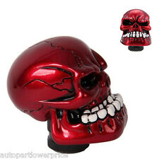 Car SUV Manual Skull Head Gear Shift Knob Gear Stick Shifter Lever Red Universal