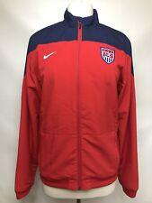 Nike Womens Jacket XL Team USA Soccer Red Dri Fit Track Running Zip Up Pockets