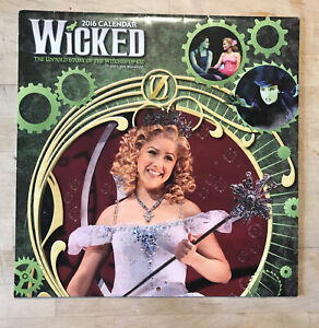 WICKED Broadway Musical CALENDAR 2016 Discontinued! STEPHANIE J BLOCK +Lots More