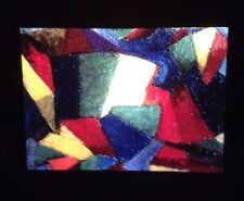 "Morgan Russell ""study For Sync Mornie"" Synchromism Painting 35mm Glass Art Slide"