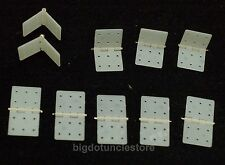 160: 10X Nylon & Pinned Hinges 20x36mm, Parts for RC Airplane