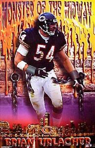 2001 Brian Urlacher Chicago Bears Monster of Midway Orig. Starline Poster OOP