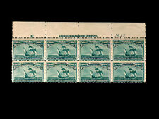 232 COLUMBIAN 3 cent MNH Top Plate Block of Eight stamps CV$2,100 Very Nice L@@K