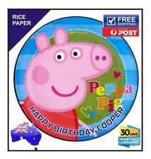 Pepper Pig Edible Rice Paper Image Cake Birthday Topper Personalised  round 19cm