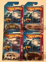 Hot Wheels Pop-Offs Series Complete 4 Car Set! Includes Morris Mini M.O.C.