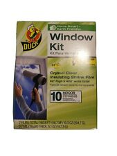 Window Insulation Shrink Kits 10 Window Duck Brand Indoor & Earth Friendly NEW