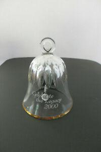 Mikasa Celebrate 2000 Crystal Bell Ornament #518/922 - Gold Trim - MIB