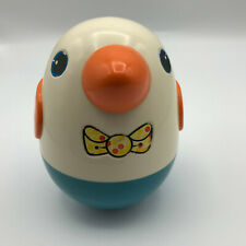 Vintage Playskool Chime Toy Roly Poly Penguin Chick Duck Rattle Weeble Wobble