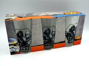 Pack Of 3 Glasses Star Wars 9 5/16in New Disney