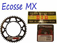 Suzuki RMZ250 DID Gold G/B Chain Black Supersprox Sprocket Kit Motocross