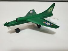 Vintage 1973 Matchbox Skybusters Diecast Corsair A7D Airplane Toy Green