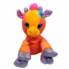 "First and Main FantaZOO 10"" Plush Georgie Giraffe Stuffed Animal Toy Orange Pink"