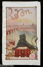 LYON GUIDE ILLUSTRE Ed. 1906 - PLAN CENTRE-VILLE PUBLICITE TOURISME RHONE 69