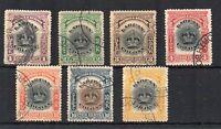 North Borneo - Labuan 1902-03 values to 12c FU CDS