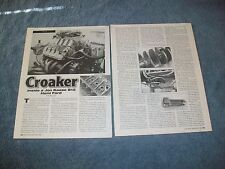 "1997 Jon Kaase 812 Ford Hemi Tech Info Article ""Croaker"""