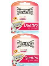 Véritable Wilkinson Sword Quattro Rasoir Rasage Lames Recharges pour Femmes- 12