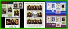 Leonardo da Vinci paintings / Mona Lisa = 5 different STAMPS + 4 S/S blocks MNH
