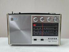 RADIO SILVER 8S-51 AC/DC 3 Band MW SW1 SW2  FULLY WORKING TRANSISTOR RARE 1970y