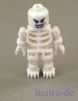 LEGO - Skelett mit Vampir - Kopf weiblich leuchtend weiss / Vampir NEUWARE (a16)