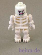 LEGO - Skelett mit Vampir - Kopf weiblich leuchtend weiss / Vampir NEUWARE