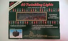Mr Christmas Indoor 40 Auto Flashing Twinkling Coloured Lights Set Unused 24V