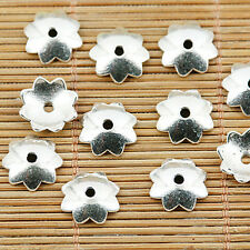 40pcs tibetan silver color plain style bead cap EF1418