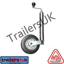 Jockey Wheel for Caravans & trailers 48mm Smooth - FREE P&P