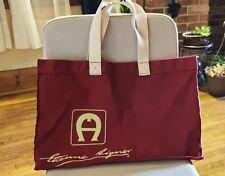 Vintage Etienne Aigner Canvas Tote Bag Handbag Extra Large