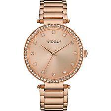 Caravelle NEW York 44l208 Women's Rose Gold Bracelet Band Rose Gold Dial Watch