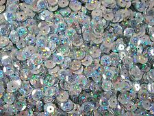 Sequins Cup 8mm Laser Silver 20g Dance Costumes Beading FREE POSTAGE