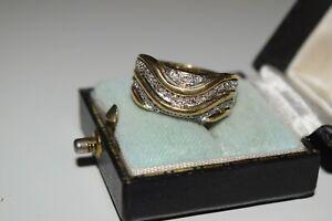 9ct Yellow Gold Large Diamond Band Ring