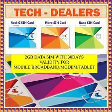 TELSTRA 2GB DATA SIM CARD+3G+4G+USE IN MOBILE/MODEM/TABLETS/MOBILE BROADBAND