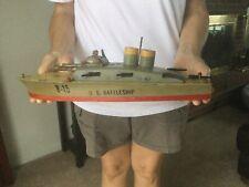 Vintage Keystone Toy Boat B-15 Battleship 1940's