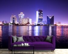 Wall mural photo wallpaper for living room bedroom blue sky over Dubai city