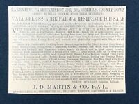 1926 Newspaper Clipping SALE OF LAKEVIEW FARM, BOARDMILLS, CARRICKMADDYROE, DOWN